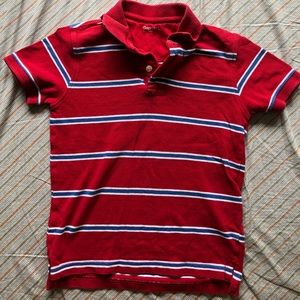 Gap Red Striped polo shirt